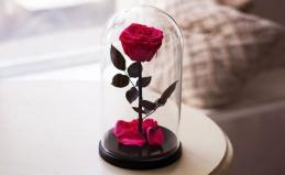 Живые розы из Таиланда в стекле