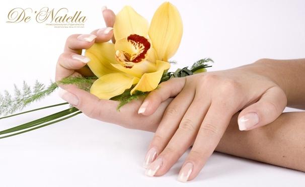 Классический или европейский маникюр и педикюр с покрытием Vinylux или Shellac, дизайном 2 ногтей и массажем в студии De'Natella. Скидка до 78%