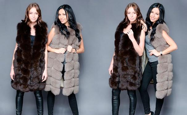 Скидка на Скидка 55% на роскошные меховые жилеты из песца от интернет-магазина Cupon-sales