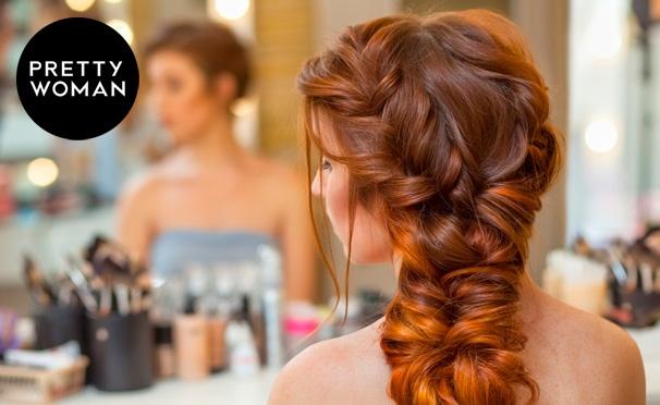 Скидка на Групповые занятия в школе визажа Pretty Woman: «Быстрые прически на себе», «Плетение кос», «Вечерние прически» и другое. Скидка до 90%
